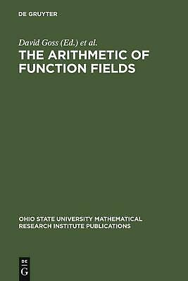 NEW The Arithmetic of Function Fields by Hardcover Book (English) Free Shipping
