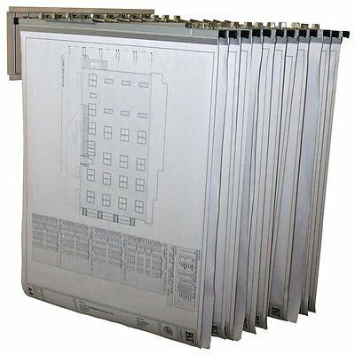Pivot Wall Rack with Hangers 617 Blueprints - Plans with 12  File Hanging Clamps