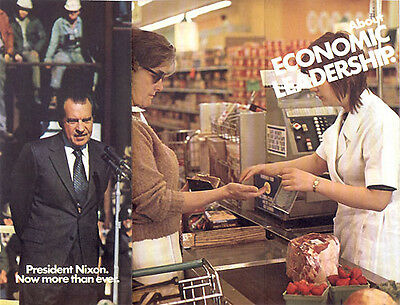 Official 1972 Reelect Richard Nixon Brochure ECONOMY (1446)