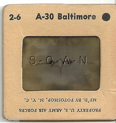 WWII US Recognition 35mm Slide Negative- Airplane- Martin Baltimore Bomber- #3