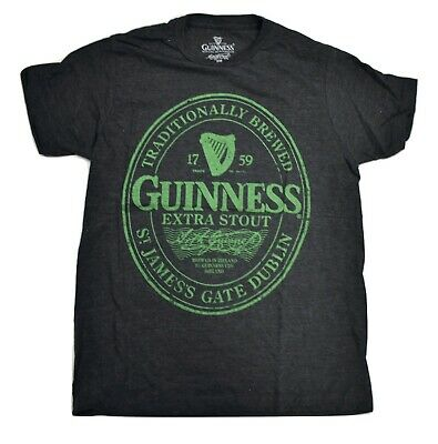 Guinness Traditionally Brewed Extra Stout Men/'s Crew Neck T-Shirt