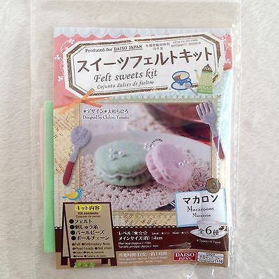 DAISO Japan Felt Sweets Kit Macaroons • Fast Airmail
