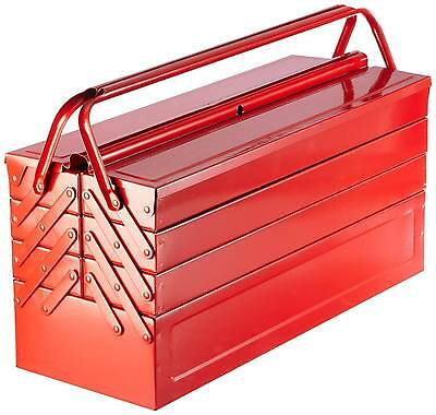 "Laser Tool ""Bestseller"" Red Metal Toolbox Tool Box Cantilever 7 Tray Large 530mm"