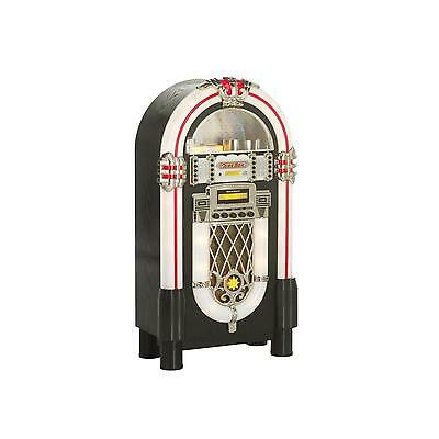 Jukebox Look Retro Ricatech Chaine Hifi Lecteur Cd Radio Effet Lumineux Led Neuf