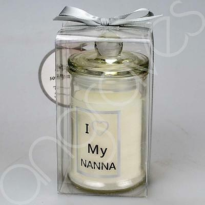 Special Nanna Scented Glass Candle Gift Memento Tribute Ornament