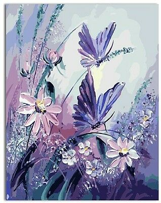 Acrylic Paint by Numbers kit 50x40cm (20x16'') Butterflies In The Wind JC7159