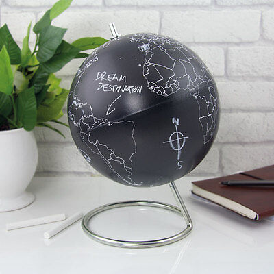 Chalkboard World Globe Novelty Travel