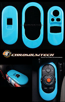 BLUE Centre+ Window Control Panel Cover for MK3 MINI Cooper/S/ONE F56 2DR Hatch