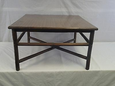 Ficks Reed & Co. Vintage Bamboo Rattan Square Coffee Table