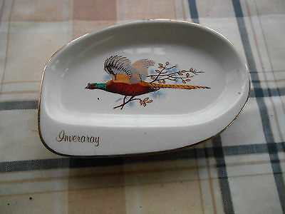 Scottish Pheasant Pattern Inveraray Pin Tray By West Highland Pottery Dunoon