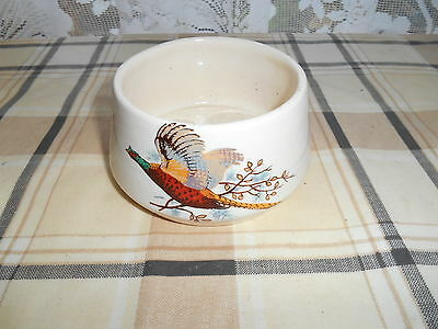 Scottish Pheasant Pattern Sugar Bowl By West Highland Pottery Dunoon
