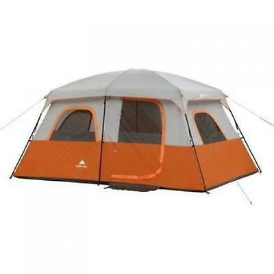 Camping Tent 8-Person Instant Waterproof 2 Rooms Family Cabin Shelter Tents NEW