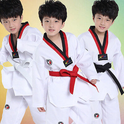 New Girl Boy Taekwondo Uniform Karate Training Suit Performance Dance Costume