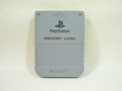 PS Grey MEMORY CARD 15 Blocks SCPH-1020 PS1 Playstation Sony Official Japan Game