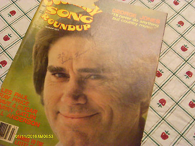 George Jones Covers Country Song Roundup Magazine March 1977 Ray Price Les Paul