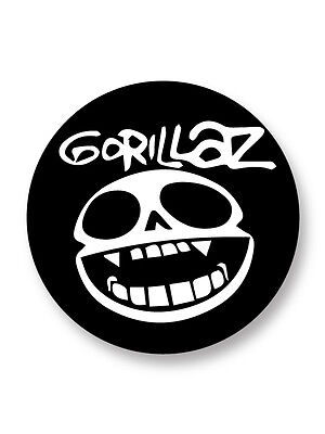 "Pin Button Badge Ø25mm 1"" Logo Gorillaz Groupe Bands Rock Trip Hop UK"