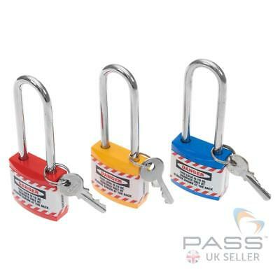 Jacket Lockout Lock with Long Shackle - Set of 3