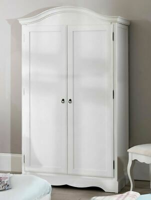 Romance large white double wardrobe. French full hanging 2 door wardrobe.QUALITY