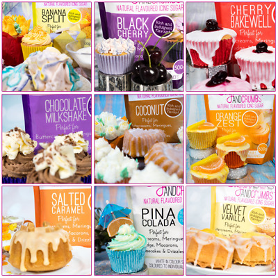 Flavoured Icing Sugars 500g by Sugar and Crumbs Buttercream Royal Icing Fudge
