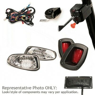 EZGO RXV Golf Cart 2007-Up LED Head Tail Light Turn Signal Deluxe Kit