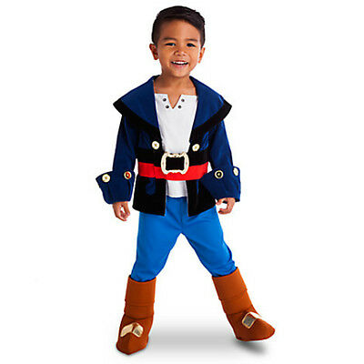 DISNEY STORE CAPTAIN JAKE Costume for Boys Size 2 & THE NEVERLAND PIRATES NWts