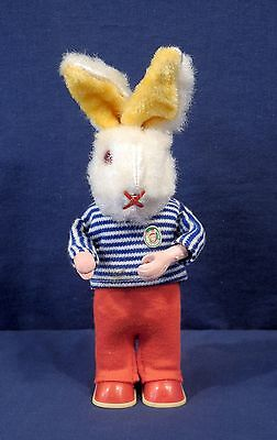 Vtg Antique West Germany Wind Up Toy Max Carl Original Mohair Rabbit Bunny Works