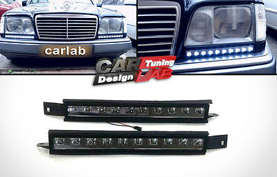 LED DRL Daytime Driving Running light fog lamp Fits 1985-1996 Mercedes benz W124