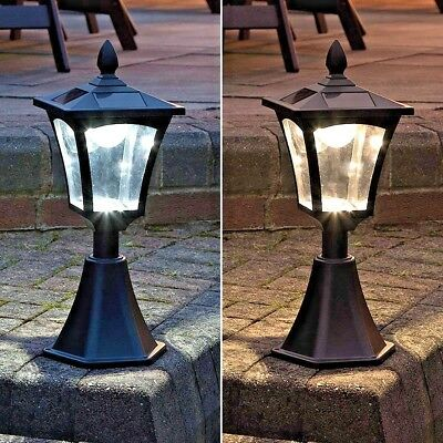 6 Led Solar Power Outdoor Garden Base Mount Post Wall 42Cm Light Lantern Lamp