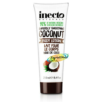Inecto Coconut Oil Body Lotion 250ml Dry Skin Cream Superbly Smoothing