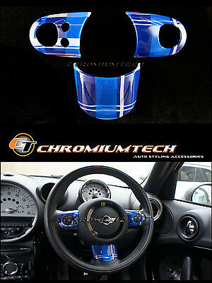 MINI Cooper/S/ONE BLUE Tartan MF Steering Wheel Cover R56 R58 Coupe R59 Roadster