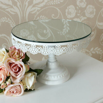 White mirror cake stand display kitchen dining room shop vintage french home