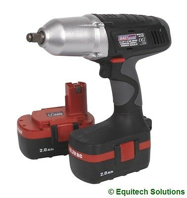 "Sealey Tools CP1950 19.2V Cordless Impact Wrench Gun 1/2"" Drive with 2 Batteries"