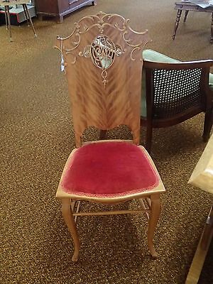 Antique Religious Catholic Church Alter Acolyte Side Chair Carved Excellent!!