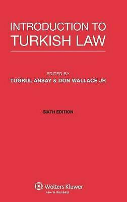 Introduction to Turkish Law by Tugrul Ansay (English) Hardcover Book Free Shippi