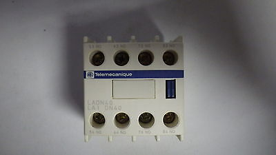 Telemecanique La1-Dn40 Auxiliary Contact Top Mount 10Amp 4No 600Vac Nib