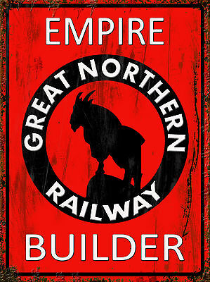 Empire Builder Great Northern Railway Train metal tin sign vintage style