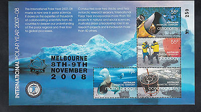 2008 Australia Antarctic, Gold Overprint APTA Melbourne No.250 from 250 SG MS184