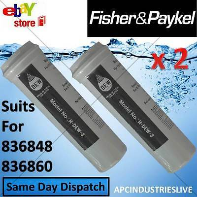 2 x FISHER & PAYKEL FRIDGE REPLACEMENT WATER FILTER QUALITY 836848 836860