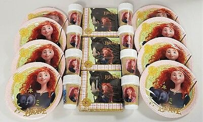 Disney Brave Party Tableware Pack for 60 People Disney Princess Plates Cups etc