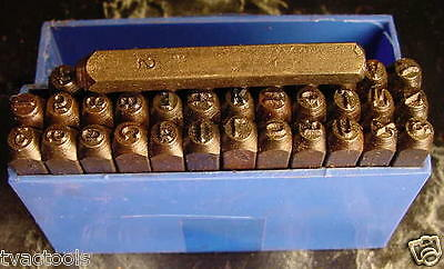36pc 532 letter number stamp punch set tool new steel