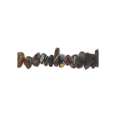 Strand of 140+ Blue/Brown Tiger Eye Approx 3-10mm Chip Beads FM8589