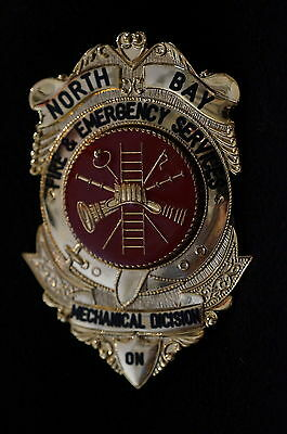 Canadian North Bay Fire & Emergency Services Mechanical Dicision Wallet Badge