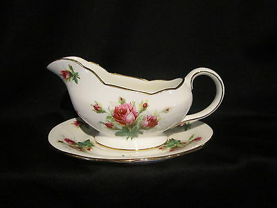 Hammersley  - Grandmother's Rose - Gravy Boat & Stand