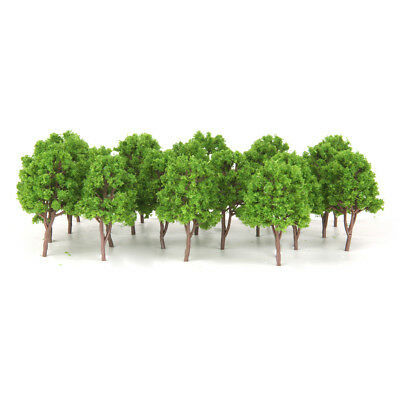 20pcs Miniature Trees for Railways Trains Layouts Architectural Supplies