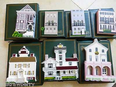 Lot of 7 Shelia's Historic Collectible Houses new with boxes