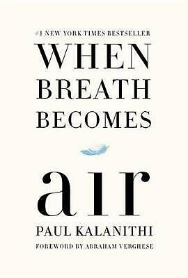When Breath Becomes Air by Paul Kalanithi (English) Hardcover Book Free Shipping