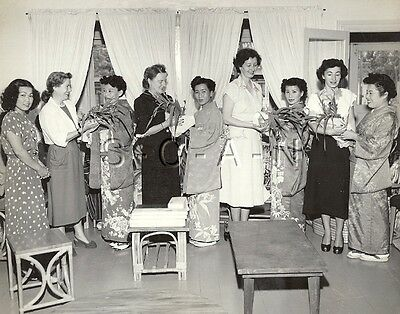 WWII Occupation of Japan- US Army Photo- Naze Cty Women Society- General's Wife