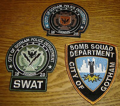 Batman Movie Prop Gotham Police Patch Lot of 3