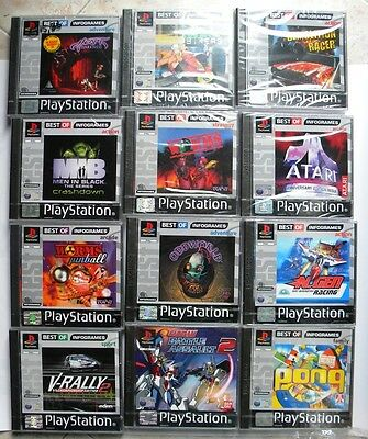 Lot Games Mini Lotto 12 Giochi Ps1 Playstation One Pal Nuovo Brand New Sealed