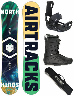 AIRTRACKS Snowboard Set Croud Wide Rocker+Bindung+Boots+Bag / 155 159 163 165 cm